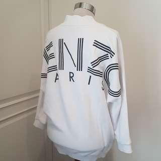 Authentic KENZO White Logo Sweatshirt Top Sweater - small