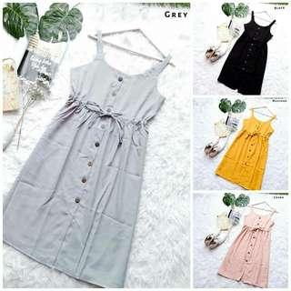 Gretha BUTTON Overall Dress