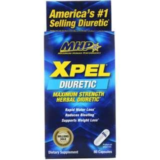 In stock Maximum Human Performance, LLC, Xpel, Maximum Strength Herbal Diuretic, 80 Capsules
