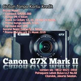 Cicilan Kamera Canon G7X Mark II, Tanpa Kartu Kredit