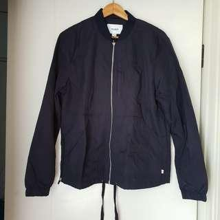 Jaket Bomber Pull and Bear Navy Baru Asli Original