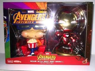 Led 燈 ,電鍍色 ironman 鐵甲奇俠 mark L & 爆谷友 movbi marvel hottoys cosbaby avengers infinity war