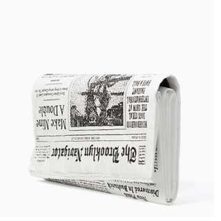 Time Sales! Authentic Kate Spade Glitzy Ritzy Newspaper Clutch
