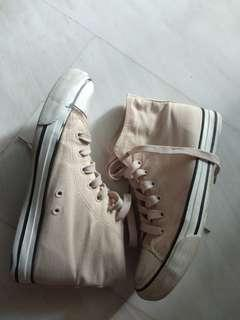 High Cut Light Pink/ Nude Sneakers