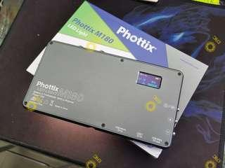 Phottix M180 Mobile LED 手提流動攝影燈 3200K - 5600K 色溫 nikon canon 相機