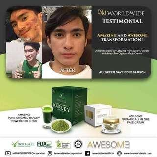 Pure organic Barley and All in one face cream