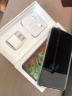 iPhone XS Max 256GB Space Grey, comes with charger, earphones, screen protector and case.