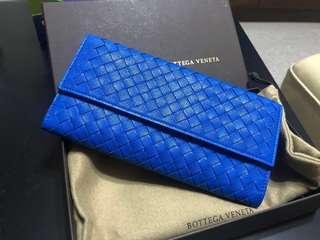 陳列品bv continental wallet blue