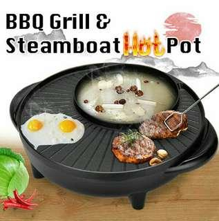 2in1 BBQ GRILL AND STEAMBOAT HOT POT