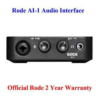 🚚 Rode AI-1 USB Studio Quality Audio Interface (AI1 AI 1)