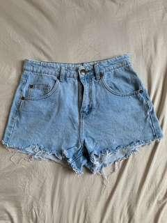 Cotton On High Rise Denim Shorts