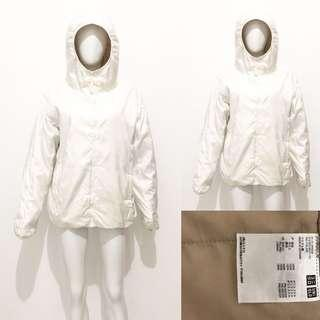 Uniqlo white parachute coat / jacket