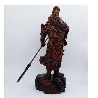 木雕關羽像 wooden statue of kuanyu