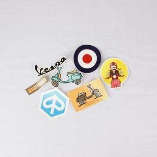 Sticker Vespa Package