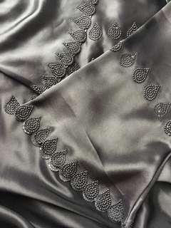 Jubah Abaya hitam Ori Madinah datang dgn matching selendang