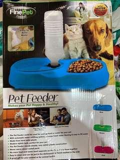 Pets drinking n food bowl, 2-in-1