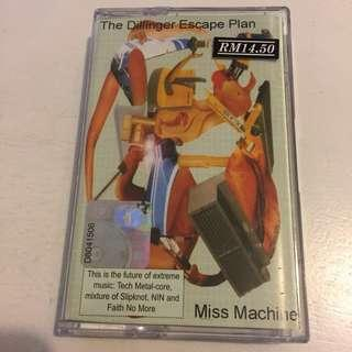 The Dillinger Escape Plan Miss Machine cassette kaset metal