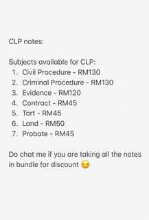 CLP Notes ( Certificate of Legal Practice)