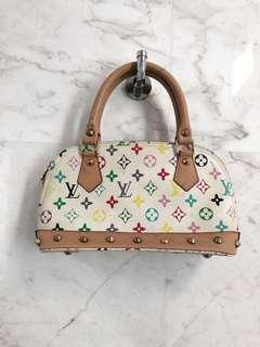 Louis Vuitton multicoloured white monogram bag