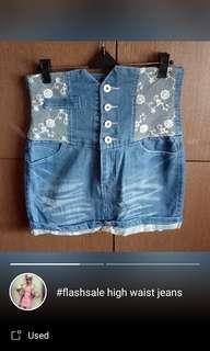 Rok Jeans high waist