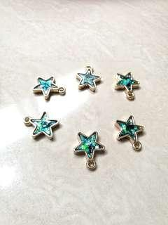 Star Charms (6pcs - gold)