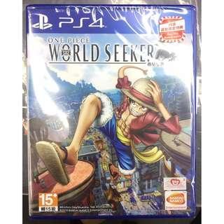 全新 PS4 One Piece World Seeker 海賊王 尋秘世界  (行貨中文版)