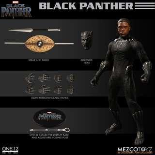 全新未開封現貨 Mezco One: 12 Collective Black Panther 黑豹 Action Figure