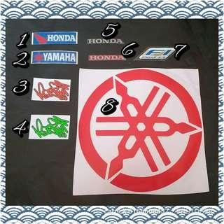 Honda Yamaha Sticker