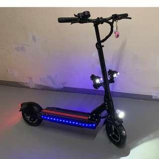 New E-Scooter For SALE (48V 1000W) | Foldable | Durable | LED Lights