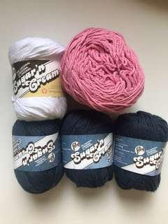 Lily Sugar and Cream Cotton Yarn