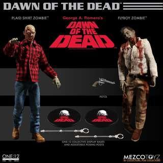 全新未開封現貨 Mezco One: 12 Collective - Dawn of the Dead Action Figure Boxed Set 喪屍 套裝