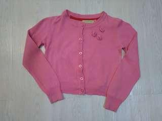 girl pink cardigan size 3 years