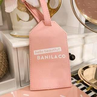 Banila co hello beautiful very cute luggage bag tag • pastel pink, blush nude, white black • korean beauty Cosmetics • approx 3 x 5.25 inches