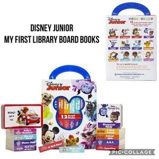 PI Kids - Disney My First Library Board Book Block - Junior / Mickey Mouse / Princess / Minnie / Winnie (Best Gift for Toddler Preschoolers Holiday, Birthday and Christmas)
