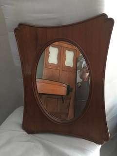 Antique Teak mirror 1930s
