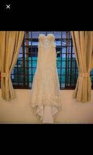🚚 Stunning Customized Wedding Bridal Gown Mermaid Racerback Lace Cathedral Train