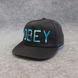 Topi Snapback Obey Dark Grey Matte Second Original Murah