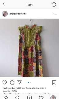 Dress batik uk all size