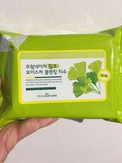 🚚 Ginko moisture Facial Cleansing Tissue - 30pieces