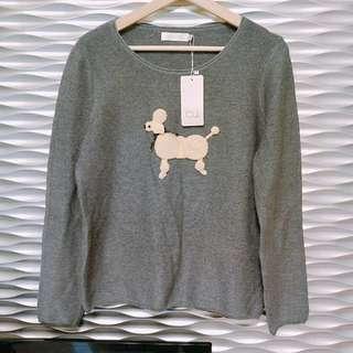 🚚 [全新EU Eunice]深灰狗狗造型針織長袖上衣