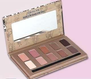 Okalan fr USA Natural Eyeshadow 10-Color Palette