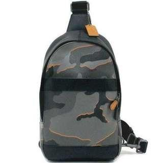 Sales! Authentic Coach F31299 Charles Pack in Camo Print Sling Crossbody Chest Bag