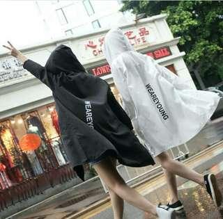 🚚 防曬衣 薄外套 黑