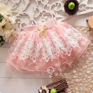 Brand New Embroidered Peach Tulle Party Skirt 2-3yo