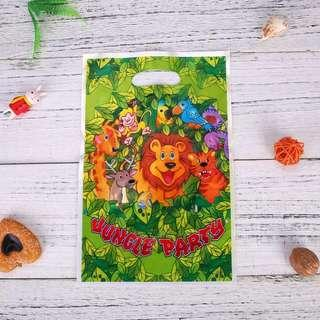 Animal theme party supplies - party loot bags / goodie bag / gift bag