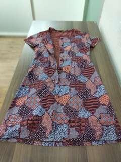 Batik Dress Cantik Elegant