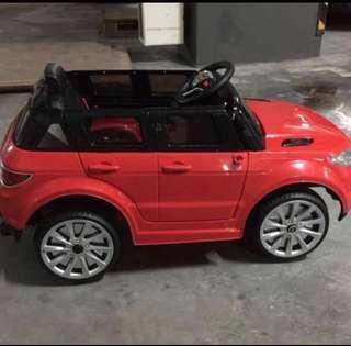 🚚 In Stock - Electric Car Sporty Land Rover Ride On Kids Car With Bluetooth Remote Controller And Genuine Leather Seat
