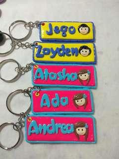 CLAY PERSONALIZED KEYCHAIN, S&F AND MUGS