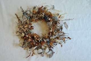 Artistic Dried and Preserved Flower Wreath