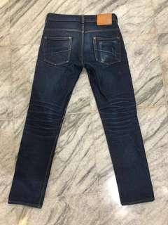 Mischief raw Jeans Indigo size 29 non selvedge